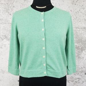 BODEN Green 3/4 Sleeve Cardigan US18